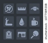 premium set of fill icons. such ... | Shutterstock .eps vector #1077589208