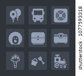 premium set of fill icons. such ... | Shutterstock .eps vector #1077593318