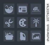 premium set of fill icons. such ... | Shutterstock .eps vector #1077603764