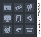 premium set of fill icons. such ... | Shutterstock .eps vector #1077603860