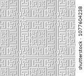 3d white paper art square... | Shutterstock .eps vector #1077604238