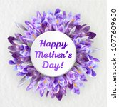 mothers woman day greeting card ... | Shutterstock .eps vector #1077609650