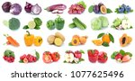 fruits and vegetables... | Shutterstock . vector #1077625496