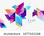 multicolored geometric... | Shutterstock .eps vector #1077631268