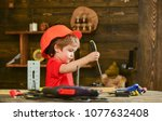 handcrafting and workshop... | Shutterstock . vector #1077632408