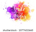 watercolor imitation splash... | Shutterstock .eps vector #1077632660
