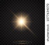 glow light effect. star burst... | Shutterstock .eps vector #1077634070