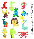 set of cute little monsters | Shutterstock .eps vector #107763989