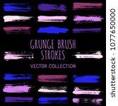 grunge paint brush stroke... | Shutterstock .eps vector #1077650000