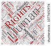 conceptual human rights...   Shutterstock . vector #1077652976