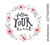 unique hand drawn lettering ...   Shutterstock .eps vector #1077665000