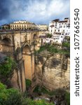 Small photo of Puente Nuevo connecting the deep chasm over the Guadalevín River in the city of Ronda, southern Spain.