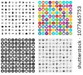 100 financial resources icons... | Shutterstock .eps vector #1077665753