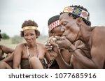 makgadikgadi salt pans ...   Shutterstock . vector #1077685916