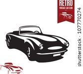retro car. vintage car. sport... | Shutterstock .eps vector #107770274