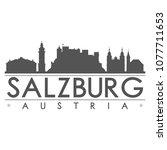 salzburg austria skyline... | Shutterstock .eps vector #1077711653