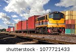 Container freight train with...