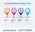 four steps infographics   can... | Shutterstock .eps vector #1077729854