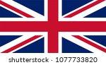 united kingdom national flag... | Shutterstock . vector #1077733820