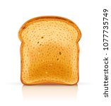 bread toast for sandwich piece... | Shutterstock .eps vector #1077735749