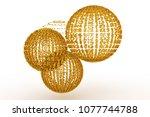 keyword of . gold color 3d... | Shutterstock . vector #1077744788