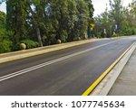 road landscape asphalt. | Shutterstock . vector #1077745634