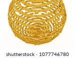 keyword of . gold color 3d... | Shutterstock . vector #1077746780
