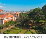 scenic peaceful green spanish... | Shutterstock . vector #1077747044