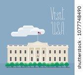 visit usa  washington image... | Shutterstock .eps vector #1077748490