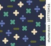 blue mathematical operations... | Shutterstock .eps vector #1077750416