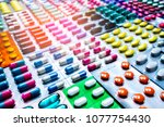 Colorful Of Tablets And...