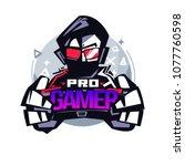 pro gamer. gamer logo   vector... | Shutterstock .eps vector #1077760598