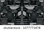 hud futuristic elements... | Shutterstock .eps vector #1077771878