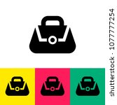 lady's bag icon vector | Shutterstock .eps vector #1077777254