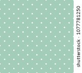 mint green polka dots seamless... | Shutterstock .eps vector #1077781250
