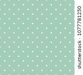 mint green polka dots seamless...   Shutterstock .eps vector #1077781250