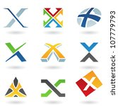 illustration of abstract icons... | Shutterstock . vector #107779793
