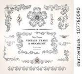 set of vintage design elements... | Shutterstock .eps vector #107780090