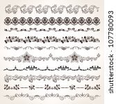 ornamental vintage border set... | Shutterstock .eps vector #107780093