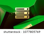 golden server icon around green ...