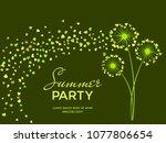 green vector dandelion herbs ... | Shutterstock .eps vector #1077806654