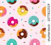 sweet summer seamless pattern... | Shutterstock .eps vector #1077812519