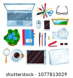 top view vector illustrations... | Shutterstock .eps vector #1077813029