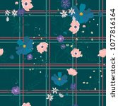 seamless trendy pattern with... | Shutterstock .eps vector #1077816164