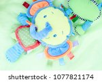 a colorful children's toy... | Shutterstock . vector #1077821174