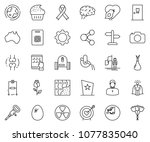 thin line icon set   super... | Shutterstock .eps vector #1077835040