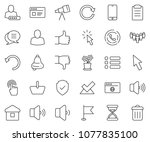 thin line icon set   home... | Shutterstock .eps vector #1077835100