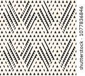 vector tribal seamless pattern. ... | Shutterstock .eps vector #1077836846