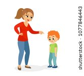 vector illustration of mother... | Shutterstock .eps vector #1077846443
