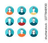 avatar profile icon set... | Shutterstock .eps vector #1077848930